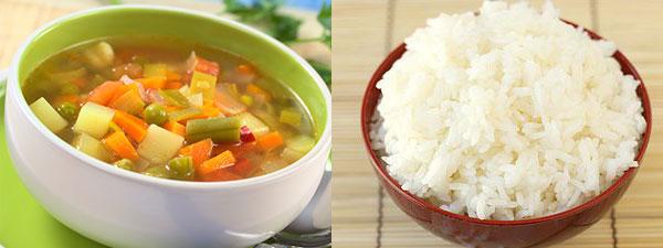 меню рисовой диеты