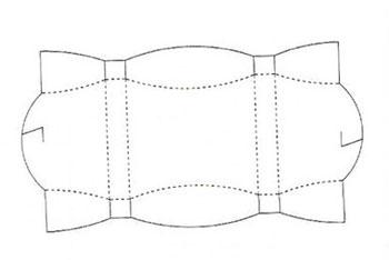 схема бумажной коробочки