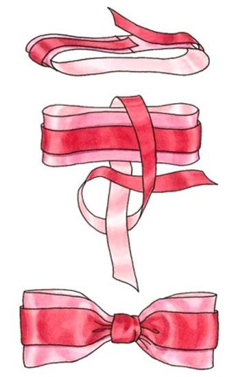 схема плетения банта