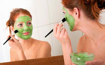 маска с глиной для лица