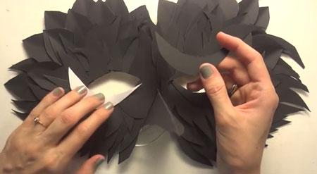 как делается маска из бумаги