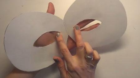 маска из бумаги пошагово
