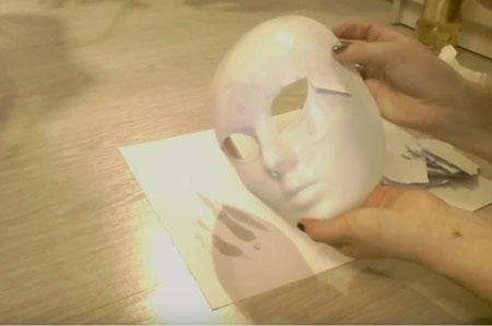 маска из гипса