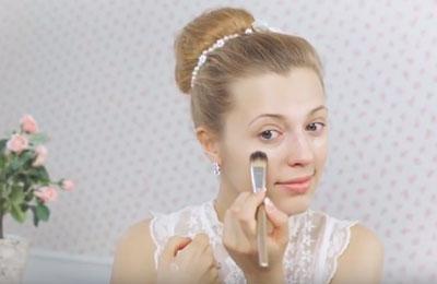 макияж для невесты светлый