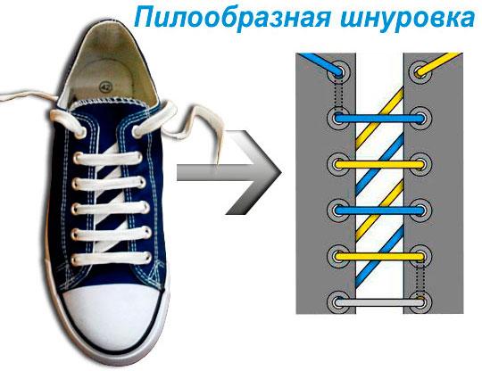 способы завязать шнурки