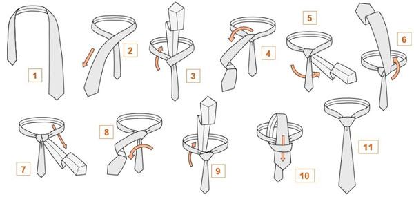 как завязать галстук самому себе